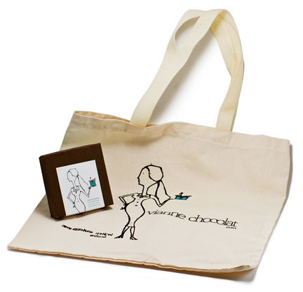 vianne chocolat canvas bag