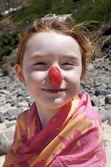 20110709080 (christian_jacquet) Tags: red sea summer portrait mer beach girl smile face rouge nose vacances child nez enfant fille sourire plage vacations rousse ete visage redhaired
