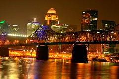 Louisville by night over the Ohio River (biosynthesis24) Tags: city summer urban usa gambling architecture night racetrack day cloudy kentucky july vivid dixon adventure clear hoss louisville thesouth overlook magical betting hdr rollinghills churchilldowns ohioriver heatwave kentuckyderby sweltering parched ldr 2011 euphoric wagering iroquoispark dontlookagifthorseinthemouth