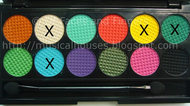 sleek curacao palette aqua blue yellow eye look shades