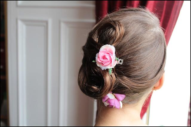 wedding trial hair