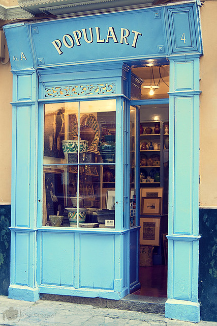 La fachada de una tienda