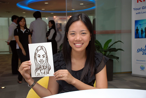 Caricature live sketching for Ricoh Roadshow - 10
