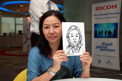 Caricature live sketching for Ricoh Roadshow - 14