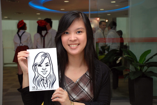 Caricature live sketching for Ricoh Roadshow - 17