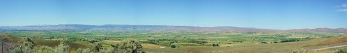 Ellensburg, WA from a view-point off of Highway 97.