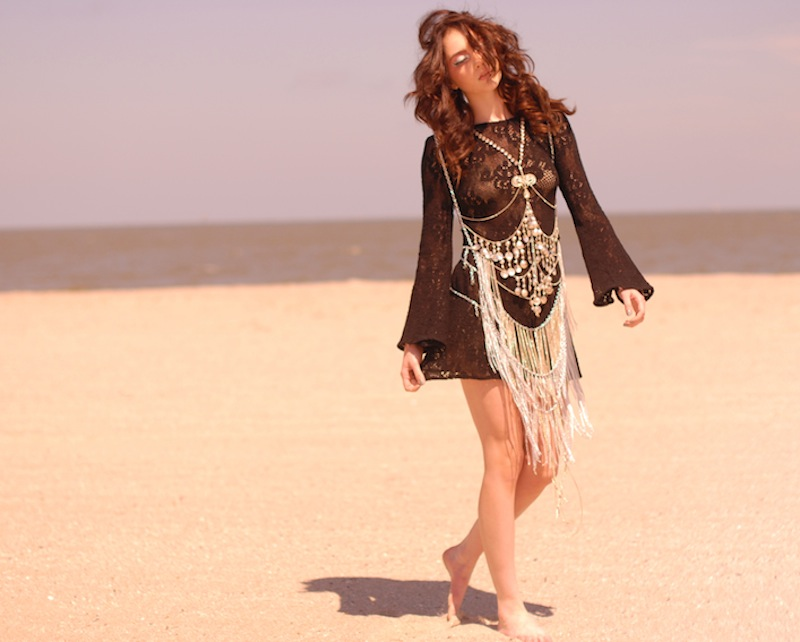 JLINSNIDER Crystal Chain Dress at Spanish Moss 1