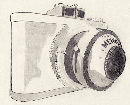 meteor camera, drawing