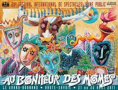 Affiche Festival Au Bonheur des Mômes - 2011