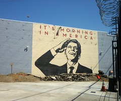 American mourning (carnagenyc) Tags: streetart giant la losangeles stencil obey shepardfairey