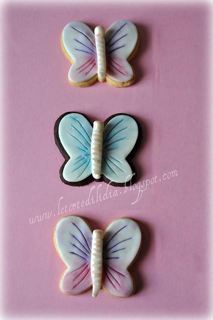 Biscotti decorati: farfalle