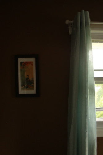 Curtains and art