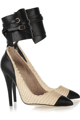 Isabel-Marant-gava-cotton-raffia-and-leather-pumps-1