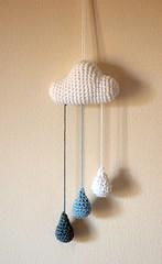 Nube /Cloud (~ tilde ~) Tags: cloud kids lluvia niños amigurumi nube raindrop cochet
