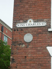 Photo of Charles I green plaque