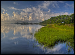 Panacea Coast Line (Marvin Foran Photography) Tags: reflection clouds seascapes florida coastal panacea cloudformations wakullacounty