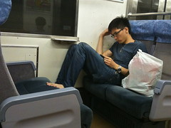 Bare Feet on the Train Seat (only1tanuki) Tags: japan train japanese 日本 barefeet 電車 decline manners shimoda irritating iphone izupeninsula 伊豆半島 shizuokaprefecture 静岡県 izukyu 伊豆急 下田市 shimodacity
