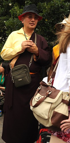 Incognito Tibetan Buddhist lama, Happy Birthday to His Holiness the Dalai Lama Peace Parade, Tibetans at Kalachakra, Washington D.C., USA by Wonderlane