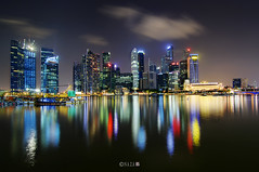 The Night That The Lights Never Went Out | Part 4 | Singapore (naza.carraro) Tags: show park city travel light party vacation holiday color reflection water festival museum architecture night marina river geotagged bay sand nikon singapore asia fireworks quay tokina esplanade ndp cbd fullerton merlion temasek singapura mbs raffles sungai ntuc kallang maybank 2011 naza artscience naza1715 nazarudin flickrstruereflection1