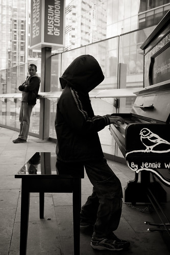 581/1000 - Hoodie on a piano by Mark Carline