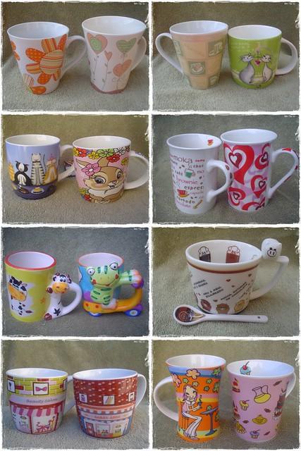 Canecas que ganhei e comprei... Mugs Collection