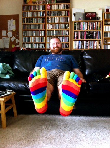 Mike has new socks