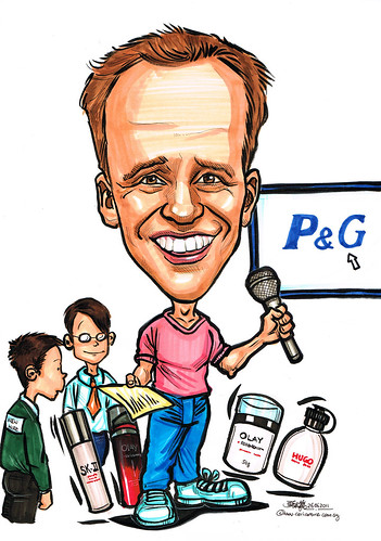 presenter caricature for P&G