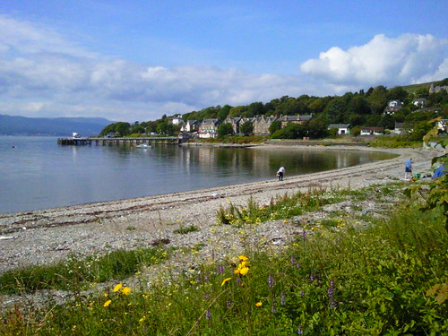 Looking toward Kilcreggan Pier in western Scotland