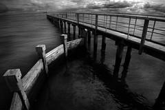 St. Kilda (Thomas James Harvey) Tags: blackandwhite monochrome landscapes piers melbourne wideangle victoria beaches jetties