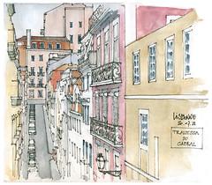 Lisbonne, 3ème jour (gerard michel) Tags: portugal sketch lisbon symposium croquis urbansketchers