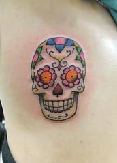 Caveira (Sabrina Ricci) Tags: tattoo mexicana skull mexican ribs diadelosmuertos caveira tatuagem costela