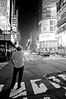 the chase (Foxtongue) Tags: nyc newyork blackwhite taxi timessquare brenno hailing
