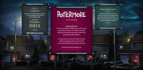 Pottermore Welcome