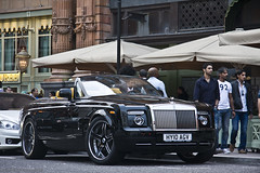 The Monster of cabriolets. (Raul Salinas) Tags: black london cars car yellow canon photography eos amazing interior wheels july harrods salinas explore arab massive raul 17 rolls phantom expensive rims limited edition 85 coupe exclusive supercar royce adv arabs 2011 eor drophead explored 40d forgiato autogespot