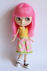 Lollipops showing off her new dress :)