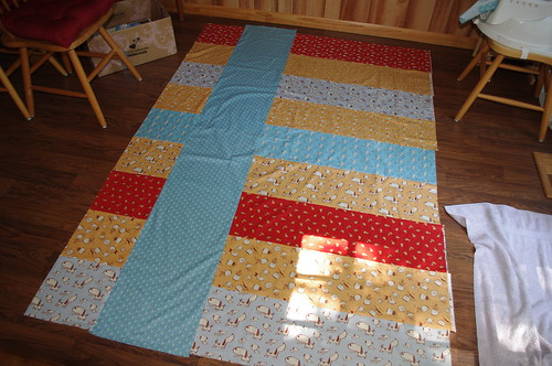 Postage Stamp Quilt Back