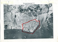 Devonport Map (Photo) 9 (Plymouth History) Tags: cornwall map aircraft nazi plymouth aerial devon photograph german target bomb blitz bombing reich devonport secondworldwar stonehouse luftwaffe plymstock saltash torpoint