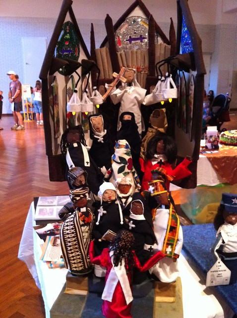 Handmade art dolls, Maker Faire Detroit