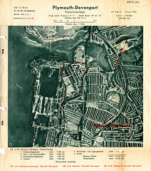 Devonport Map Jan 1942 (Photo) (Plymouth History) Tags: cornwall map aircraft nazi plymouth aerial devon photograph german target bomb blitz bombing reich devonport secondworldwar stonehouse luftwaffe plymstock saltash torpoint