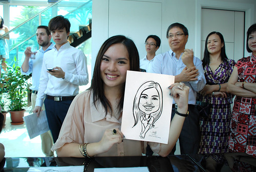 caricature live sketching for wedding solemnisation - 1