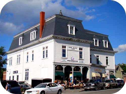 a gorgeous old building in Greenville, ME