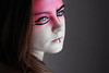 China Doll (Lou Bert) Tags: china pink portrait white art girl face make up self doll paint makeup