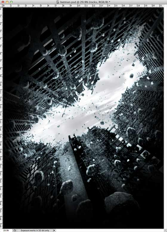 posters de Batman hecho en Photoshop