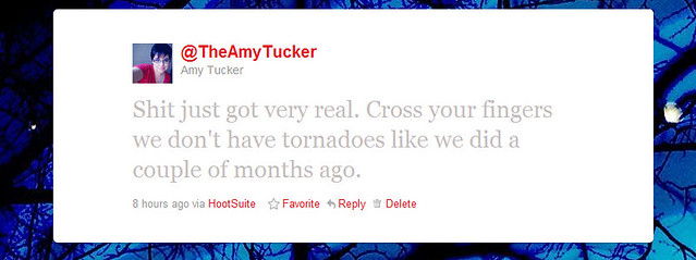 TheAmyTucker weather tweet.
