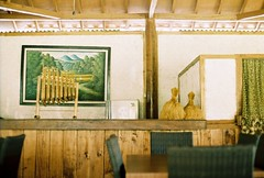 kampung feel (yttria.ariwahjoedi) Tags: film analog canon indonesia restaurant ae1 interior makan jawa rumah garut barat sunda restoran cibiuk