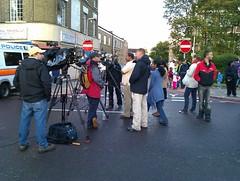TV crews on Tottenham High Rd by yurri