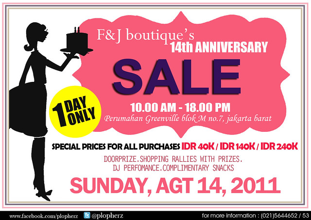 F&J boutique's 14th anniversary