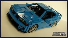 Pontiac GTO tuner (Rolic) Tags: blue 2004 car race model lego body pontiac gto kit tuner v8 moc