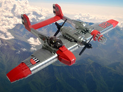E-73 Wyvern (JonHall18) Tags: plane fighter lego aircraft fantasy scifi gunship moc skyfi dieselpunk dieselpulp