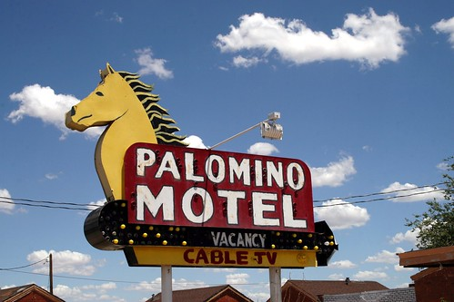 palomino motel neon sign